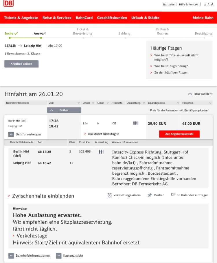 ドイツ鉄道(DB)遅延した際の対処方法 詳細