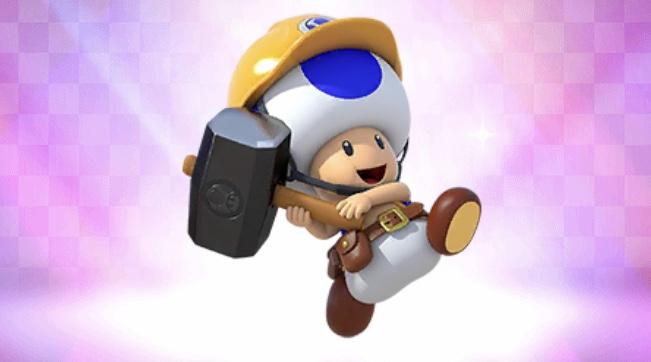 ヘルメットをかぶったキャラ ビルダーキノピオ