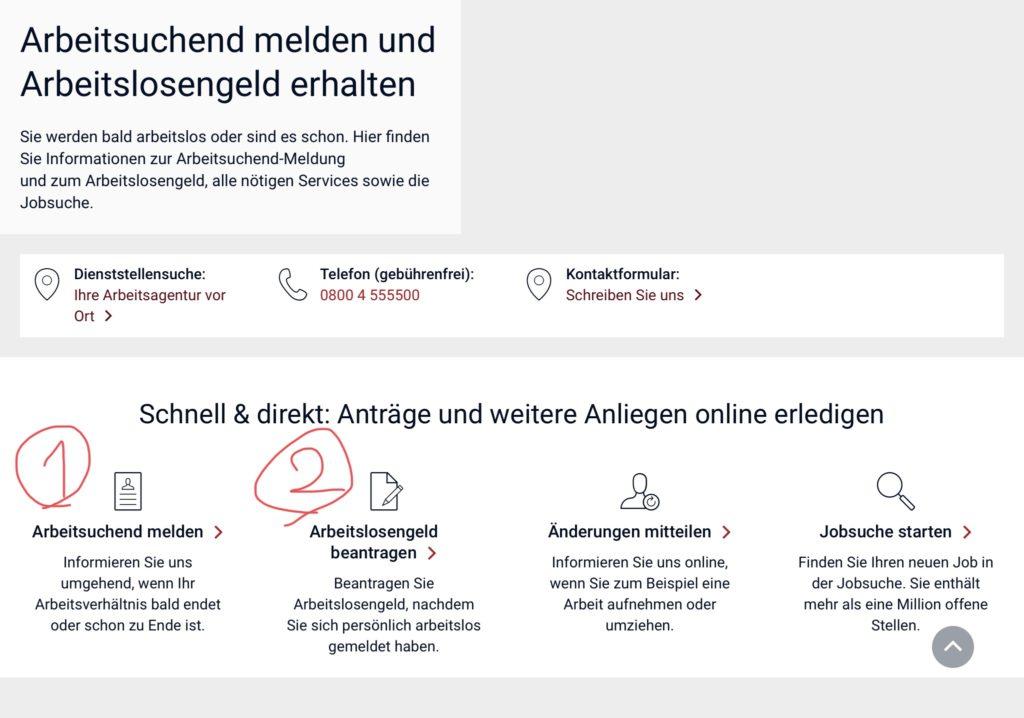 ドイツで失業保険をもらうための手順